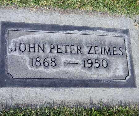 ZEIMES, JOHN PETER - Sutter County, California   JOHN PETER ZEIMES - California Gravestone Photos