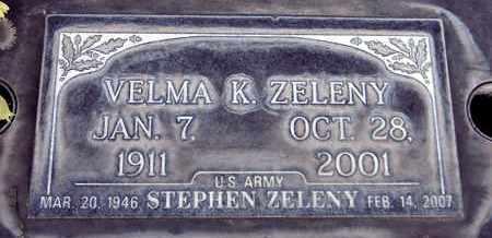 ZELENY, VELMA KATE - Sutter County, California   VELMA KATE ZELENY - California Gravestone Photos
