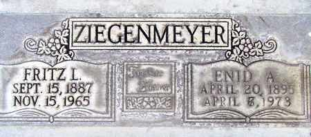 ZIEGENMEYER, FRITZ L. - Sutter County, California   FRITZ L. ZIEGENMEYER - California Gravestone Photos