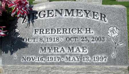 ZIEGENMEYER, FREDERICK HERMAN - Sutter County, California | FREDERICK HERMAN ZIEGENMEYER - California Gravestone Photos