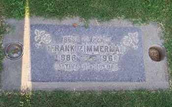 ZIMMERMAN, FRANK - Sutter County, California | FRANK ZIMMERMAN - California Gravestone Photos