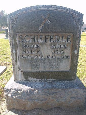 SCHIEFERLE, MARY M - Ventura County, California | MARY M SCHIEFERLE - California Gravestone Photos